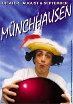 Baron von Münchhausen Kindertheater Theater für Kinder buchen tourneetheater clown bühnenclown zauberer