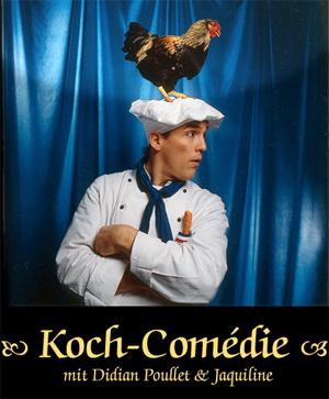 Öttes koch comedy kellner show Sie gehen von Tisch zu Tisch und kommunizieren in herzlicher Weise mit den Gästen. Auf charmante Art und Weise servieren sie eine Mischung aus Slapstick, Komik und Küchenzaubereien.